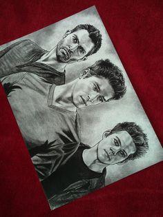 Teen Wolf A5 size large postcard print. Scott McCall. Derek Hale. Stiles…