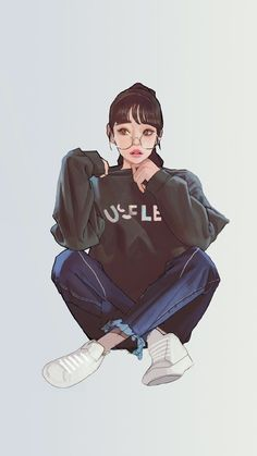 BadassGirlsQuotes Wallpapers for Girls, GirlyWallpapers Tumblr Wallpaper, Pop Art Wallpaper, Wallpaper For Girls, Cool Anime Girl, Anime Art Girl, Anime Teen, Girl Cartoon, Cartoon Art, Cute Couple Art
