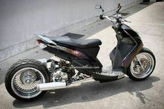 Yamaha Mio Soul Lowrider Custom Scooter Custom, Custom Bikes, Mini Chopper, Honda Ruckus, Minibike, Drag Bike, Motorized Bicycle, Moto Bike, Honda Civic
