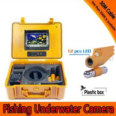 305.87$  Watch now - http://aliglg.worldwells.pw/go.php?t=32635498973 - (1 set) 30M cable Underwater Fishing Camera HD 700TVL Night version Plastic box waterproof camera Fish finder free DHL shipping 305.87$