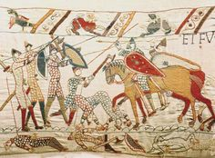 Bayeux Tapestry: scene from the Battle of Hastings --Kids Encyclopedia | Children's Homework Help | Kids Online Dictionary | Britannica