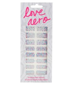 Love Aero Multicolor Bling Nail Stickers