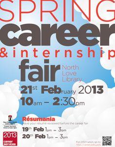 SDSU Spring 2013 Career Fair Flyer