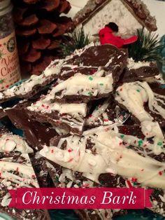 Holiday Recipes - Christmas Bark  http://www.twohensandtheirchicks.com/82038203holiday-recipes---christmas-bark.html