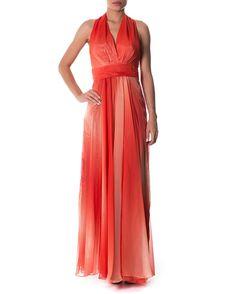 Vestido longo degradê - Vestidoteca