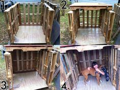Upcycled doghouse 5 pallets & paneling