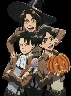 Attack on Titan Anime snk Aot Shingeki no Kyojin Hanji Zoe Levi Ravaille Eren Jaeger cute Halloween