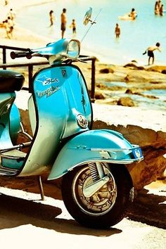 VESPA AT THE BEACH