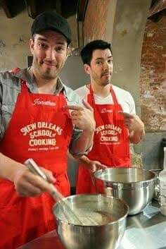 "The real question here is ""Who is the better cook""? Jonathan Scott, Brothers Take New Orleans, Hgtv Property Brothers, Great Scott, Scott Brothers, Derek Hough, Diana Ross, Darren Criss, Sabrina Carpenter"
