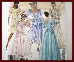 BRIDAL Wedding Gown or Bridesmaid Dress by VintagePatternsDepot