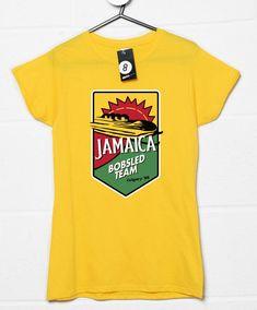 Jamaica Bobsled Team Womens T Shirt - Yellow / 8-10