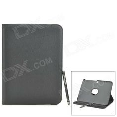 Protective PU Leather Case w/ Stylus Pen for Samsung Galaxy Tab 3 10.1 P5200 / P5210 - Black Price: $12.86