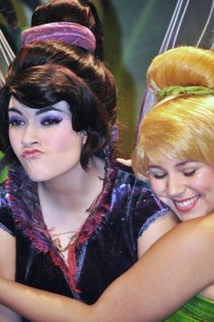 Tink and Vidia! (This Vidia is a friend of mine! Fun to come across a pic of her on Pinterest!)