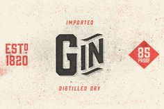 Gin Typeface by Hold Fast Foundry on Creative Market