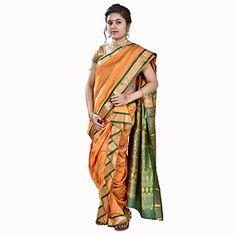 Saj Readymade Designer Peshwai Nauvari Saree - Golden Yellow Color SAJ http://www.amazon.in/dp/B013SGAC82/ref=cm_sw_r_pi_dp_DEG1vb1BFXSGH