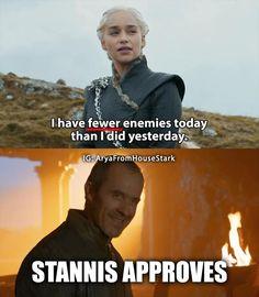 She knows her grammar :)  ~ Nymeria #gameofthrones #Dragons #gotseason7 #GoTS7 #jonsnow #kitharington #stark #winterfell #aryastark #sansastark #maisiewilliams #got #lannister #tyrionlannister #daenerystargaryen #emiliaclarke #motherofdragons #kinginthenorth #winteriscoming #winterishere #cercei