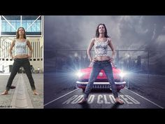 Girl with movie poster look photo manipulation | photoshop tutorial cc - YouTube
