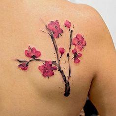 Cherry Blossom Tattoo by Ben-Hur Leite