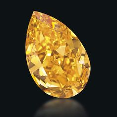 The Orange  You'd heard of purest white, intense pink and sky blue, but did you know the color range of diamonds even stretches as far as orange? This 14.82 carat flaming orange diamond, which earned the title of Largest Fancy Vivid Orange Diamond, was auctioned at Christie's for the first time in November.