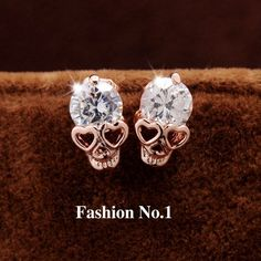 Available Now on our store:  Vintage Stud Earr... Check it out here ! http://mamirsexpress.com/products/vintage-stud-earrings-cz-diamond-18k-gold-plated-skull-stud-earrings-free-shipping?utm_campaign=social_autopilot&utm_source=pin&utm_medium=pin