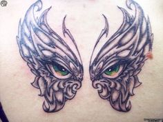 wings with eyes tattoo | BUTTERFLY Eyes Tattoos