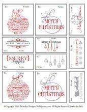 Free Printable Christmas Gift Tags - Pretty