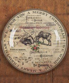 Vintage Christmas Plate - Set of Four #zulily #zulilyfinds