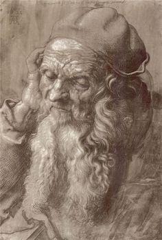 Man Aged 93 (brush & ink on paper), 1521. Artist: Albrecht Durer