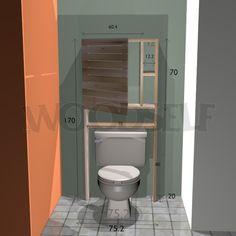 Armoire sur toilettes - plan du meuble