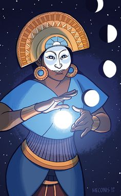 Goddess: Mama Quilla (Incan).Mama Quilla was the Inca goddess of the moon and the defender of women.  She was also an important goddess to the Inca calendar, which used both lunar and solar calculations