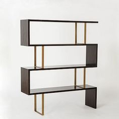 Addison Staggered Bookcase #westelm: so excited about this piece...it's perfect...just need to talk my finacee into knocking out the closet that separates the living-room and dining area so that I can put this bookshelf in it's place...
