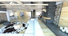 Salon - Styl Skandynawski - A2 STUDIO pracownia architektury drewniana sciana
