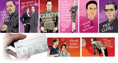 Law & Order Valentine's Day cards. @Alexis McClain and @Lindsey Hellenbrand