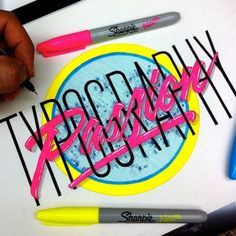 Typography passion by Juantastico