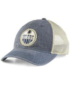 3cd0bb4595b adidas Edmonton Oilers Sun Bleached Slouch Cap - Navy Natural Adjustable