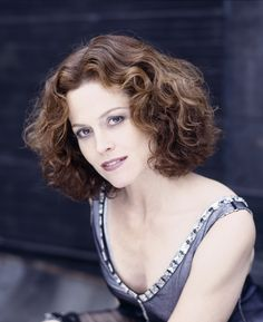 Sigourney Weaver's hair - my husband wishes I would wear mine this way all the time!