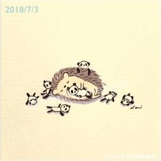 ^ Hedgehog sure loves those itty, bitty pandas! Draw on artists, draw on. Hedgehog Tattoo, Hedgehog Drawing, Hedgehog Art, Baby Hedgehog, Cute Animal Drawings, Cartoon Drawings, Cute Drawings, Pretty Art, Cute Art