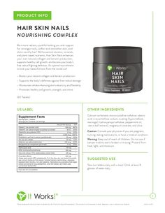 It Works Global - Hair Skin Nails Scoop on the product information via slideshare