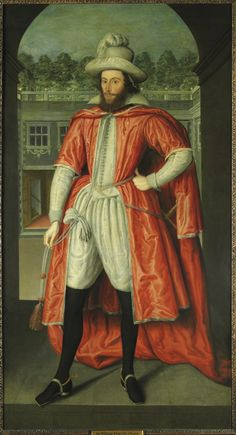 William Pope, 1st Earl of Downe (1573-1631) by Robert Peake