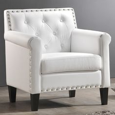 Baxton Studio 'Thalassa' White Modern Arm Chair | Overstock.com Shopping - The Best Deals on Chairs $244.42