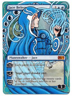Jace Beleren altered card by spade_81 http://www.squidoo.com/magic-the-gathering-altered-art-cards #mtg #magic #magicthegathering #alteredart