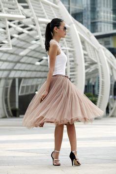 I discovered this Tulle Skirt Tea length Tutu Skirt Elastic Waist tulle tutu Princess Skirt Wedding Skirt in Kahki - NC455 on Keep. View it now.