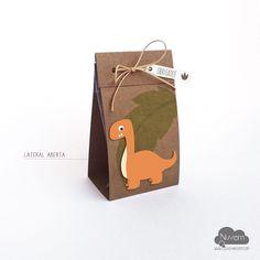 Caixinha para doces e lembrancinhas Festa Infantil Dinossauro