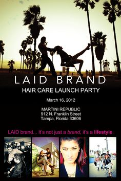 THE EVENT HAS BEEN SCHEDULED.  March 16th at the Martini Republic.  Brace yourself for the beginning of an era.    www.laidbrand.com    #LAID brand #RockerStylist #David L. Hensley #Professional Hair Care #Pherottraction #Pheromones #LAID
