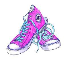241 fantastiche immagini su shoes converse illustrations