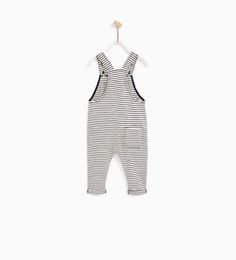 Image 5 of STRIPED DUNGAREES from Zara