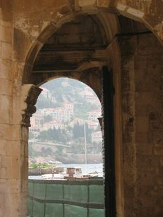 Another doorway and a different viewpoint of Dubrovnik