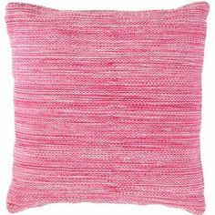 Fresh American Mingled Fuchsia indoor/outdoor pillow