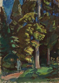 Park    -    Magnus Enckell  Finnish 1870-1925  oil on canvas,  62.00 x 43.00 cm