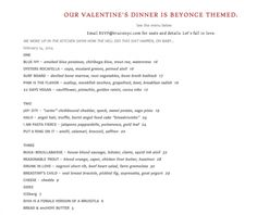 valentine's day menu nyc